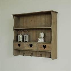wooden wall storage shelf drawers kitchen shelves hooks shabby vintage ebay