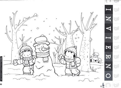 imagenes para pintar vacaciones invierno dibujos de 161 bienvenido invierno para colorear mu 241 ecos de