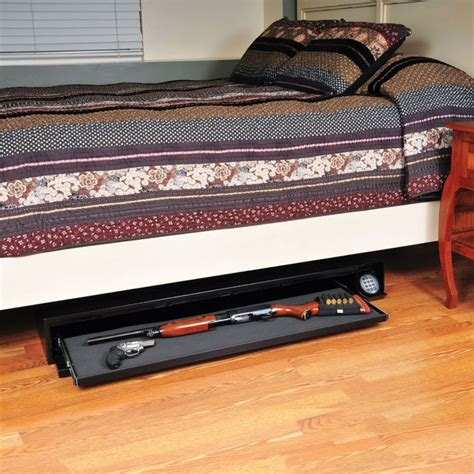 under bed rifle safe defense vault dv652 hot new under bed gun safe from