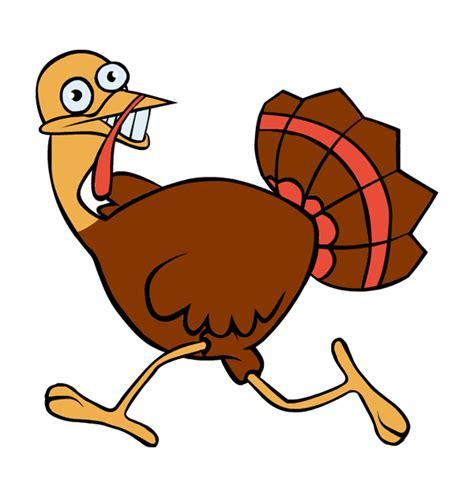 Running Turkey Clipart scared turkey clipart clipart best