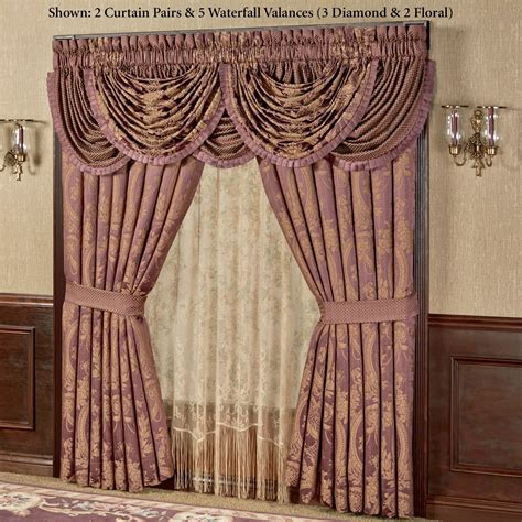 waterfall curtain valance josephine waterfall valance window treatment