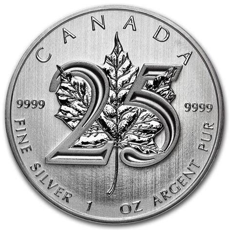 Ac 2436 Silver canada 5 1 x 999 silver coin maple leaf 2013 25th anniversary edition catawiki
