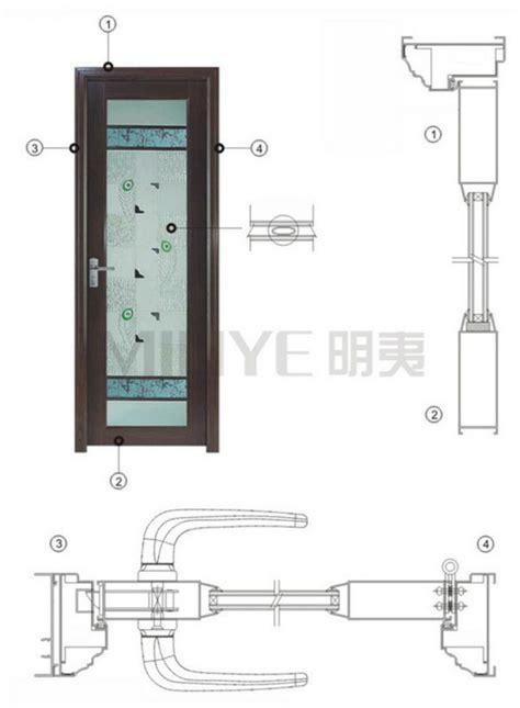 swing door detail modern design aluminum bathroom glass door frosted glass
