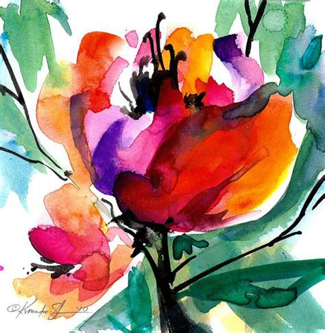 libro watercolour flower portraits 25 best ideas about abstract flowers on flower artwork abstract flower paintings