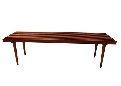 bench coffee table mid century slatted wood bench coffee table george nelson