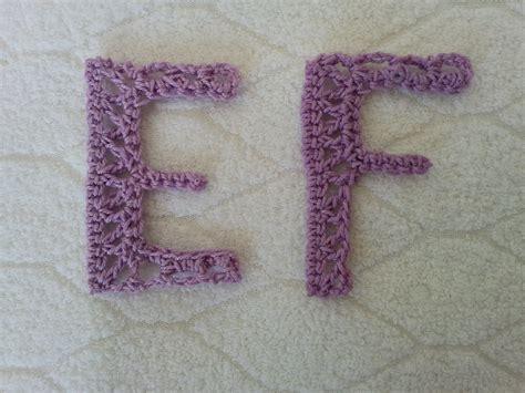 alfabeto alluncinetto lettere e f crochet alphabet