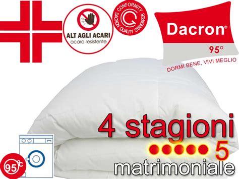 piumone 4 stagioni piumone anallergico 4 stagioni dacron matrimoniale