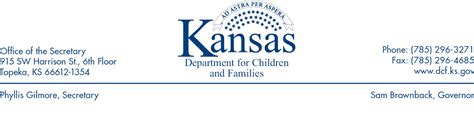 Service Letter Kansas Implementation Memo