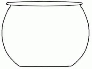 free printable fish bowl template printable fish bowl patterns