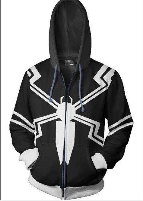 Hoodie Ziipper Venom Cloth venom hoodie nerdy things hoodies marvel clothes and marvel comics
