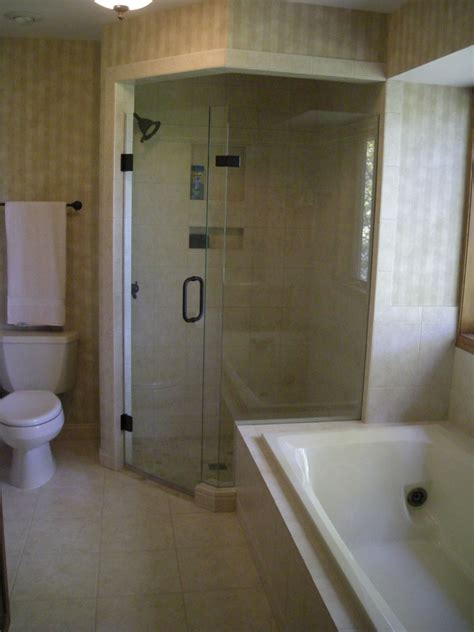 Remodeled Showers by Corner Shower Basement Ideas