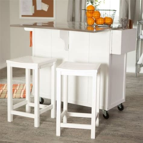 the randall portable kitchen island with optional stools