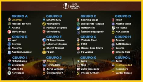 copa 2017 table calendario europa league 2017 2018 fixture completo