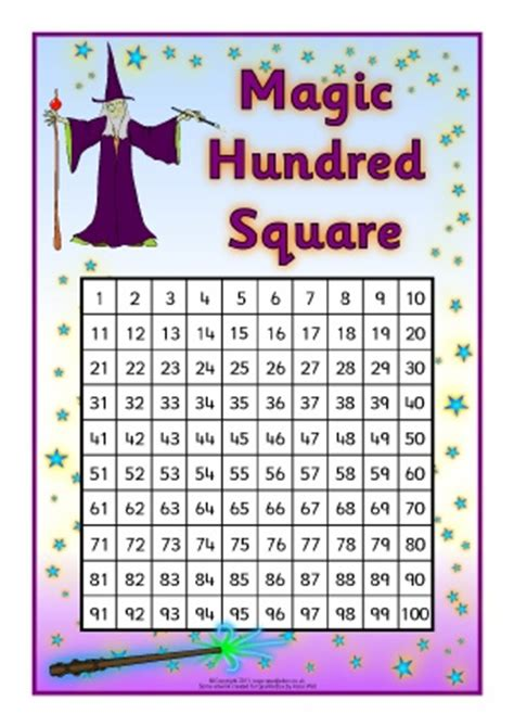 printable magic number cards free hundred square grid printables and teaching resources