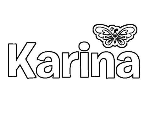 imagenes que digan karina dibujo de karina para colorear dibujos net