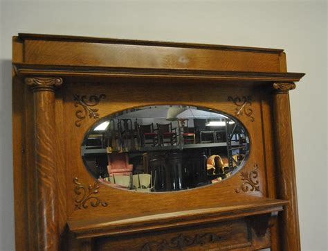 fireplace with mirror antique quarter sawn oak fireplace mantle with oval
