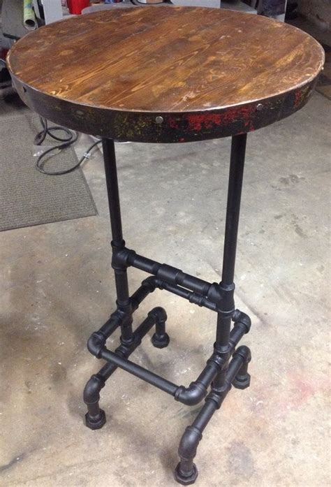 wine barrel pub table 222 best black iron pipe furniture images on