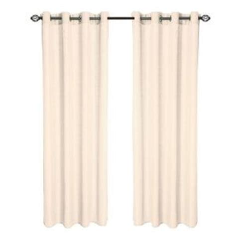 drapes 108 length lavish home cream olivia jacquard grommet curtain panel