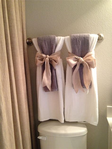 bathroom towel hanging ideas show towels ideas for bathroom decor pinterest