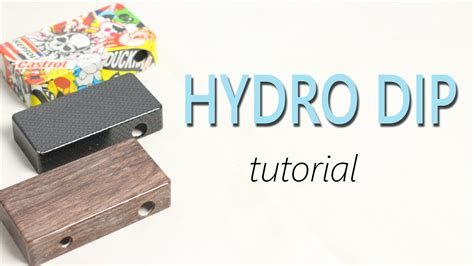 tutorial water transfer printing how to hydro dip tutorial