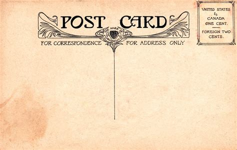 create post card template vintage postal charm mehker