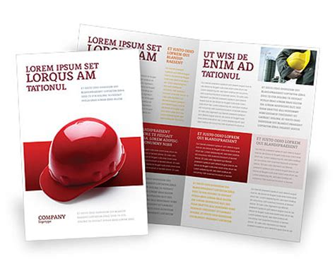 personal safety brochure template design and layout
