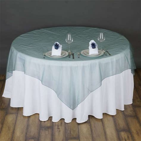 10 pc 72x72 quot sheer organza table overlays wedding