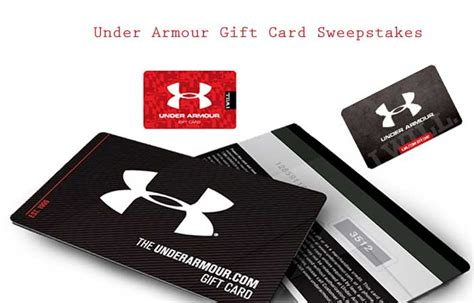 Under Armour Gift Card - under armour gift card sweepstakes us only