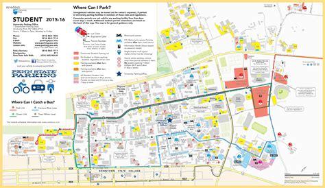 psu parking map penn state parking map my