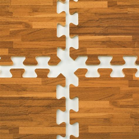 Mats Interlocking by 10 X 10 Interlocking Floor Mats Soft Tiles W Wood Grain Look