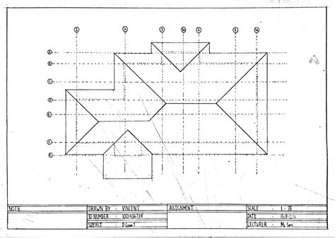 roof plans assignment 4 multi view drawing plan vincentlunia