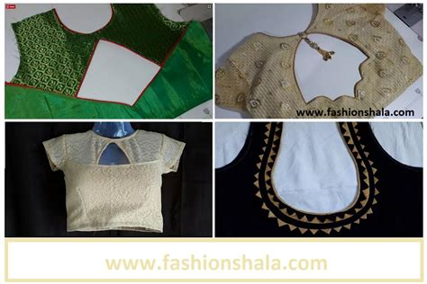 blouse cutting saree blouse back neck designs cutting and stitching the