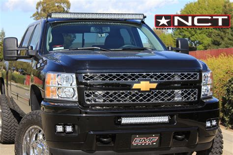 light bar on top of truck rigid industries led lighting norcaltruck chevy gm