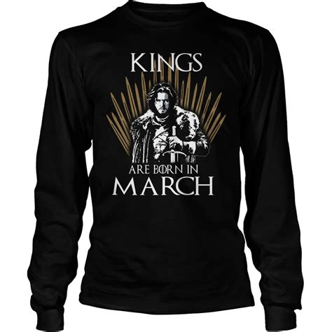 Tshirt March Stp are born in march of thrones t shirt hoodie