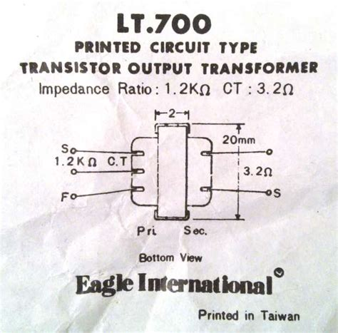 transistor audio driver transformer eagle lt700 lt44 radio output inter stage tapped audio matching transformer ebay