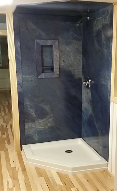 Simulated Marble Shower Walls by 7 Smart Shower Designs For Corner Alcove Walk In Shower Stalls