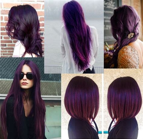 cheveux prune couleur pictures to pin on pinterest des cheveux violet prune violette sucr 233 e maquilleuse