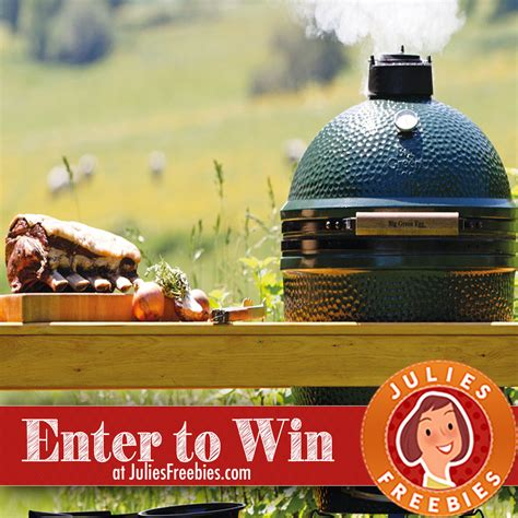 Big Green Egg Giveaway - big green egg giveaway julie s freebies