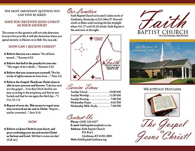 church brochures templates 8 best images of sle business brochures template