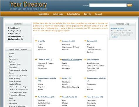 joomla templates for business directory php link directory template archive list of templates