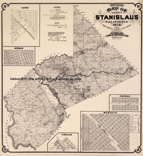 Stanislaus County Records Welcome To Historynyc Historical Maps Poster Books And Custom Framing