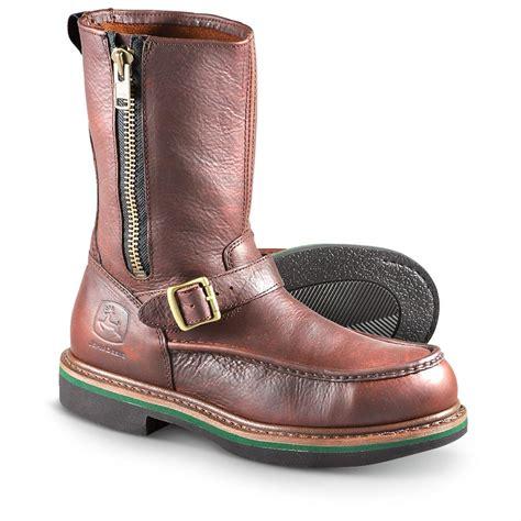 mens boots with zipper on side s deere 174 11 quot side zip steel toe work boots
