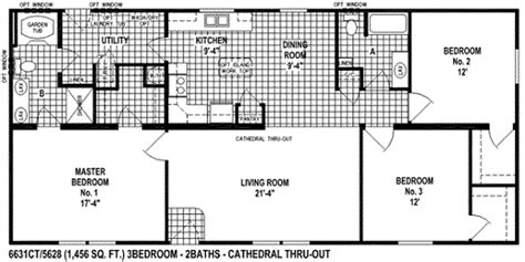 Floor Plans For Double Wide Mobile Homes Sectional Mobile Home Floor Plan The 6631 Spring View Select