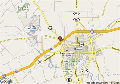 where is seguin texas on a map map of alamo country inn suites seguin