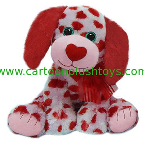 valentines toys plush dogs valentines day stuffed toys with