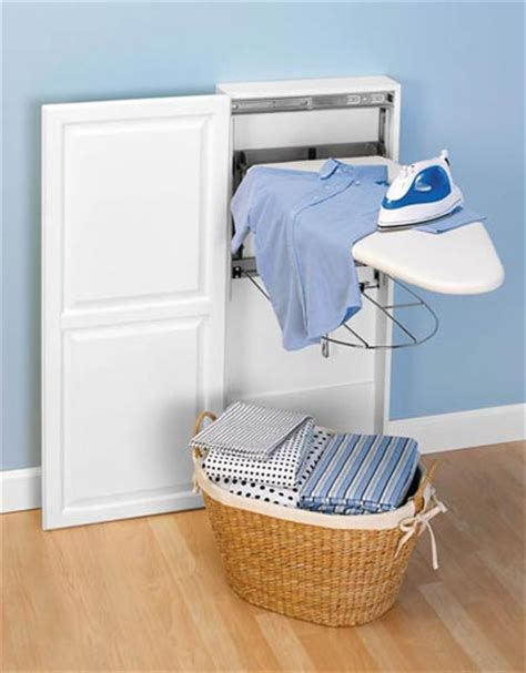 stow away ironing board cabinet organize it home office garage laundry bath