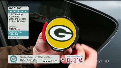nfl motion activated light up decals nfl motion activated light up decals by lori greiner qvc com