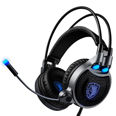 Headset Sades Usb sades r1 usb gaming headset 7 1 channel wired headphone with wire mic light for pc
