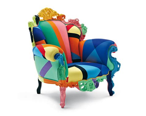 multi colored armchair darya girina interior design pop art inspiration in