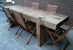 garden table from 2 4m new railway sleepers